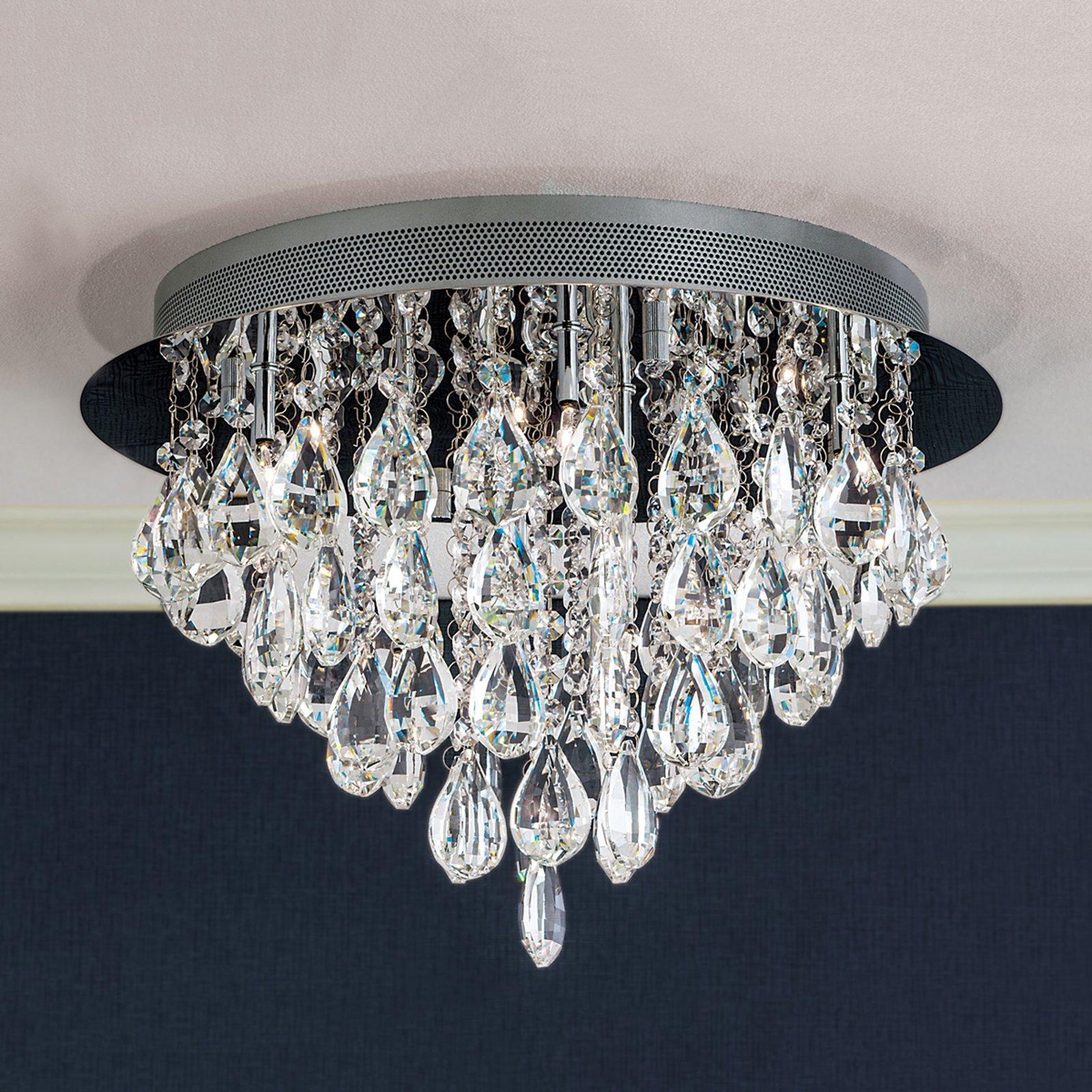 HELENE taklampe med blykrystaller 45 cm