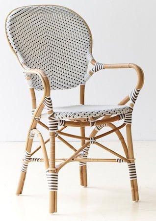 Isabell stol med armlene - Hvit