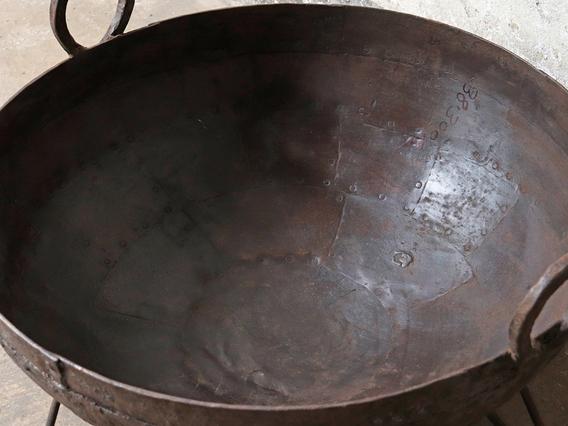 Metal Kadai Fire Pit Brown