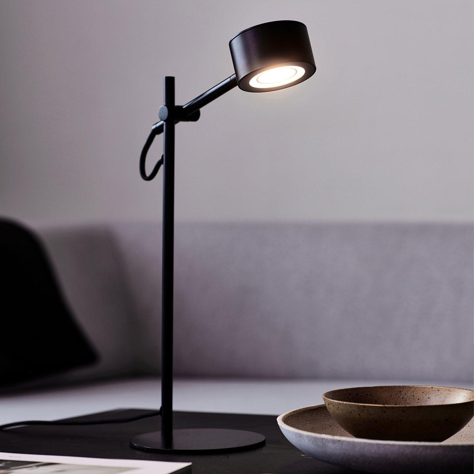 LED-bordlampe Clyde, integrert dimmer