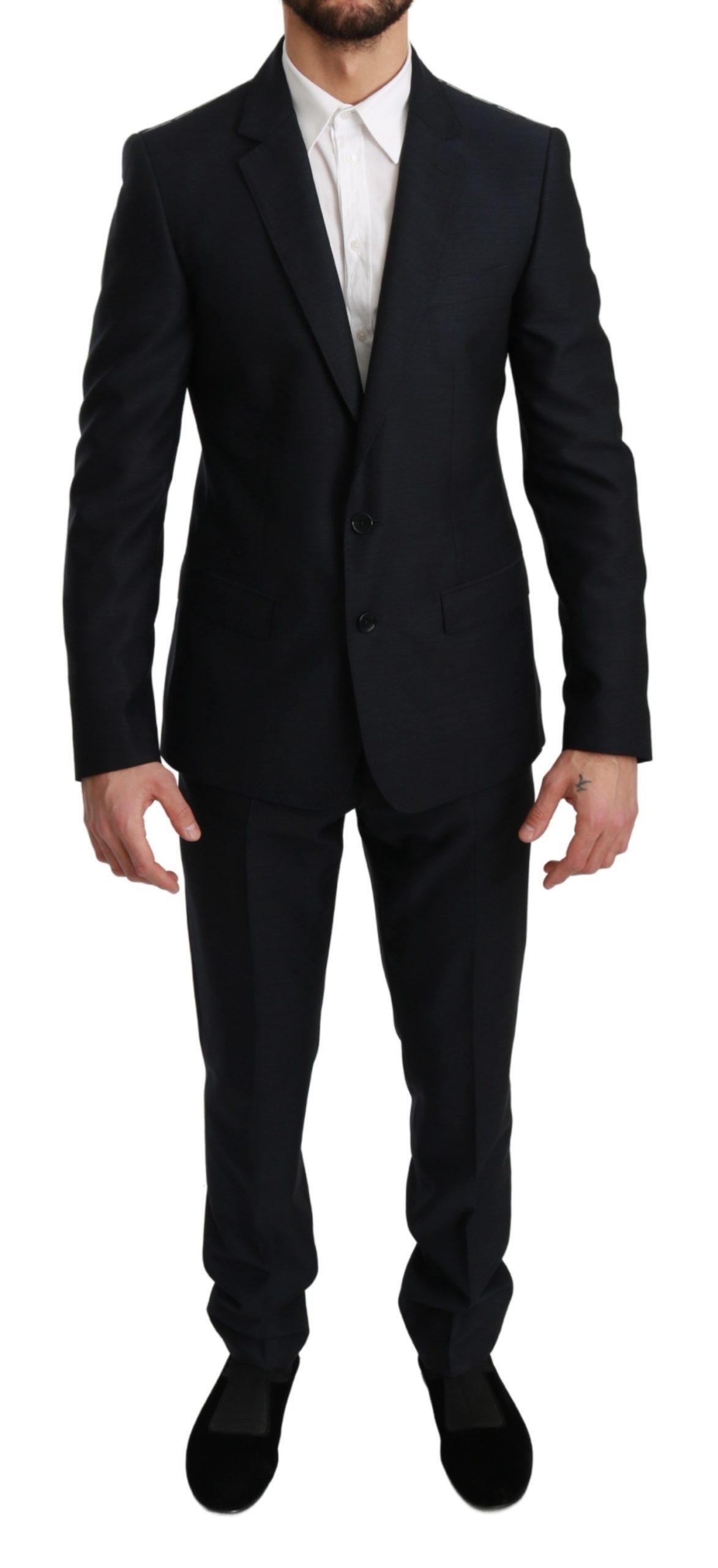 Dolce & Gabbana Men's Slim Fit 2 Piece MARTINI Wool Suit Blue KOS1768 - IT46 | S
