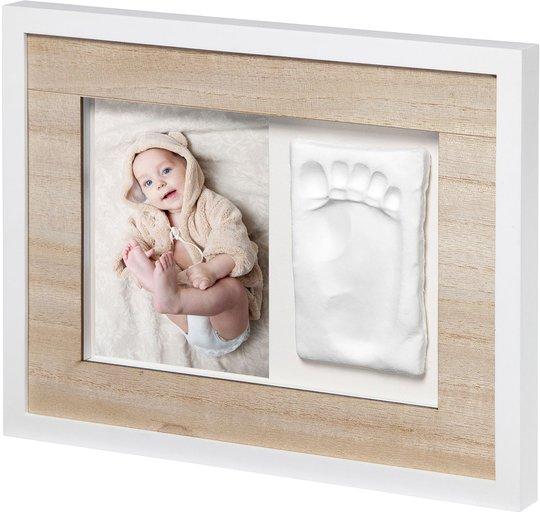 BabyArt Tiny Style Gipsavstøpning med Ramme, Wooden