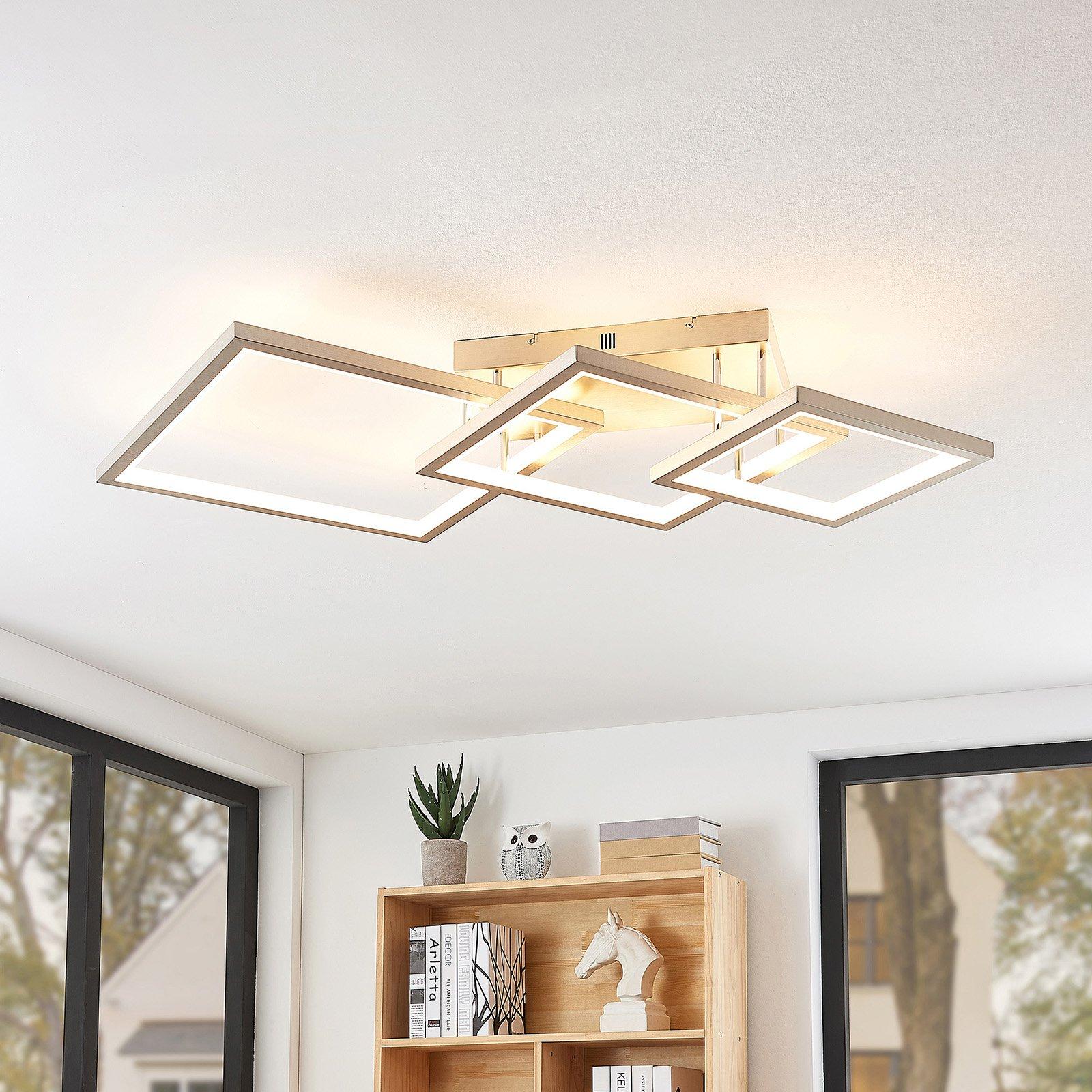 Lucande Avilara LED-taklampe av 3 kvadrater
