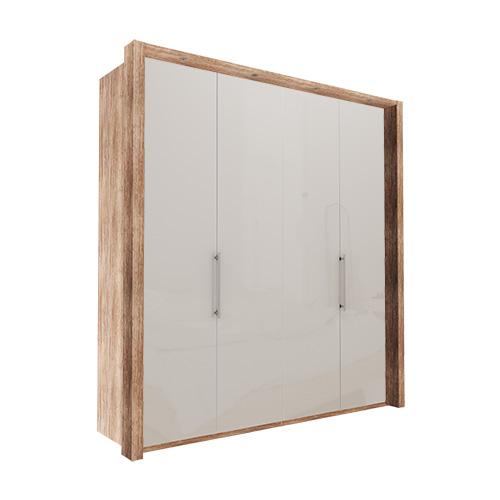 Garderobe Atlanta - Lys rustikk eik 200 cm, 216 cm, Med ramme