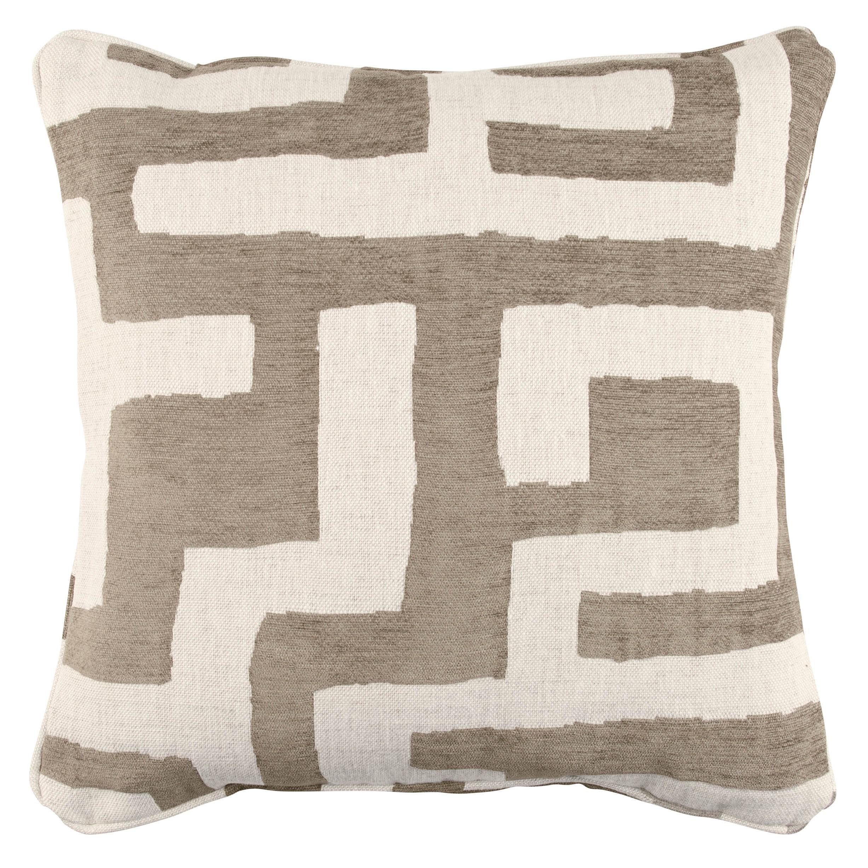 Zinc Romo I Kuba Cay Cushion | Pebble 50x50cm