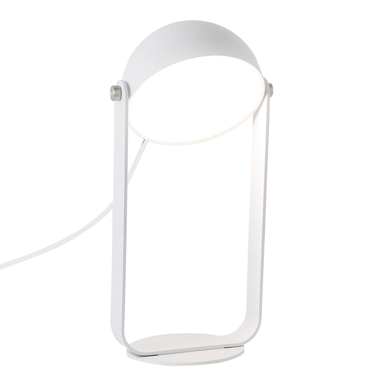 LED-pöytälamppu Hemi, käännettävä, valkoinen