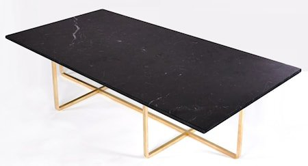 Ninety Table XL - Svart marmor/messingstomme H40 cm