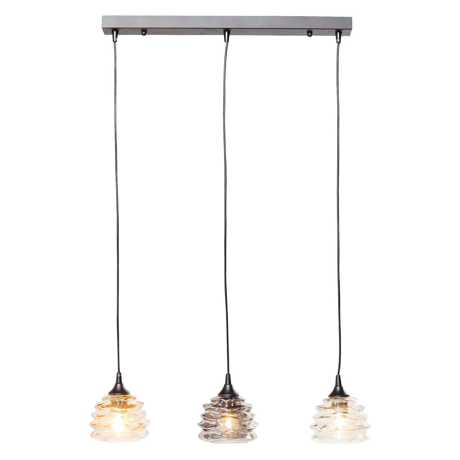 KARE Ruffle Dining Visible-riippuvalo 3-lamppuinen