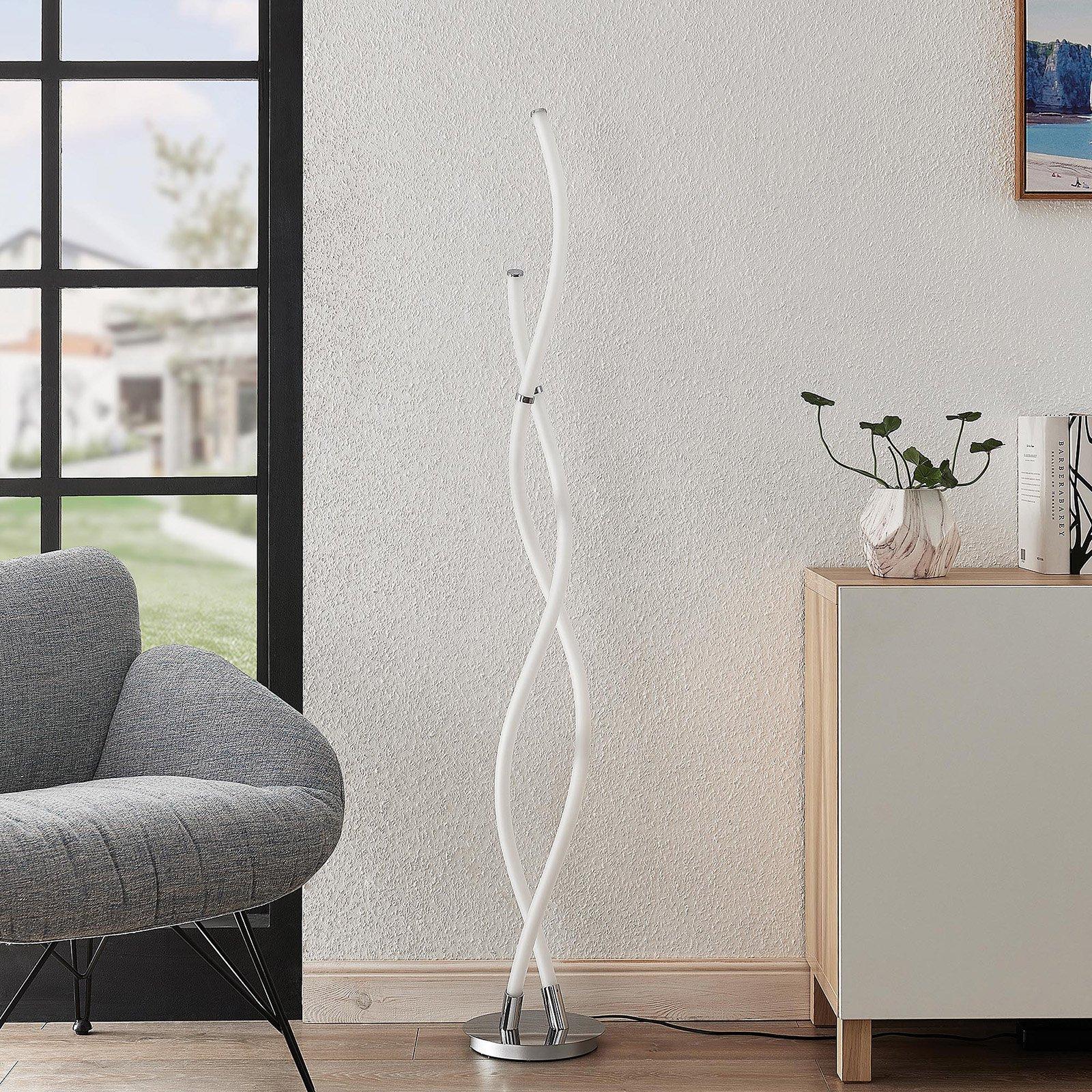 Lucande Wewa LED-gulvlampe, med dimmer