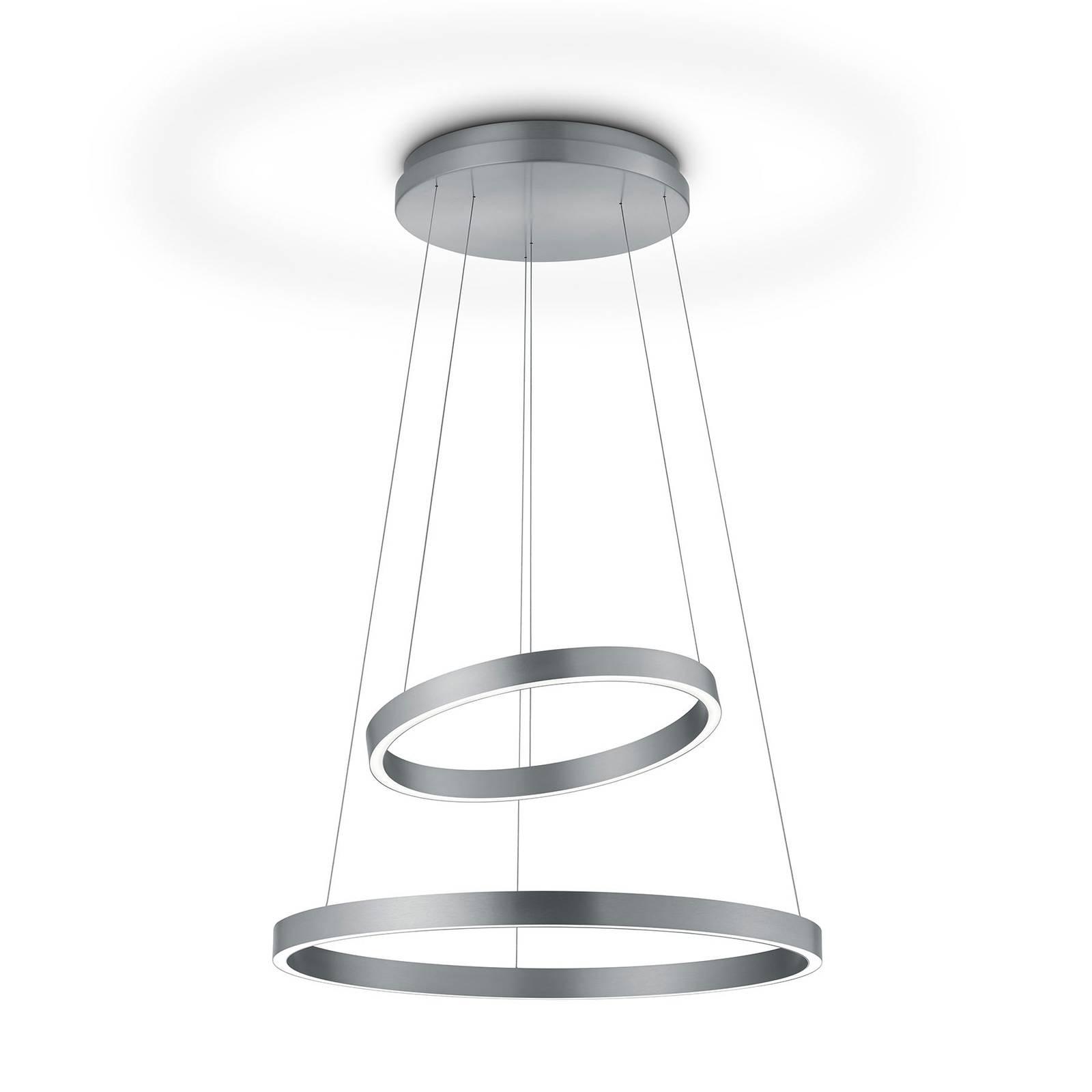 LED-riippuvalaisin Lora-P matta nikkeli, eleohjaus