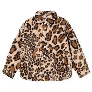 BO(Y)SMANS Leopard Teddy Jacka Beige 12 år