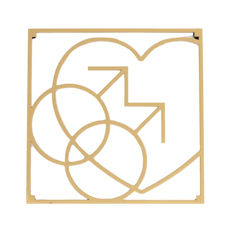 Love collection Grytunderlägg MM Love 18 x 18 cm Guld