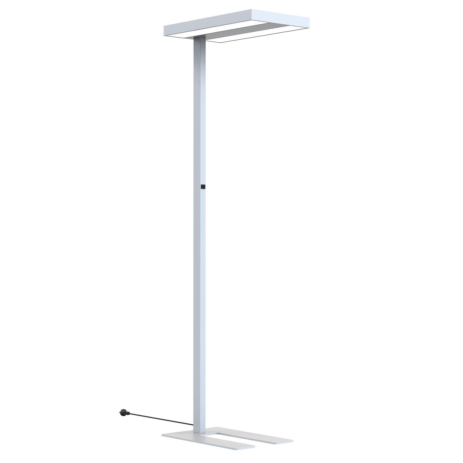 Arcchio Kalem gulvlampe til kontor, kantet, sølv
