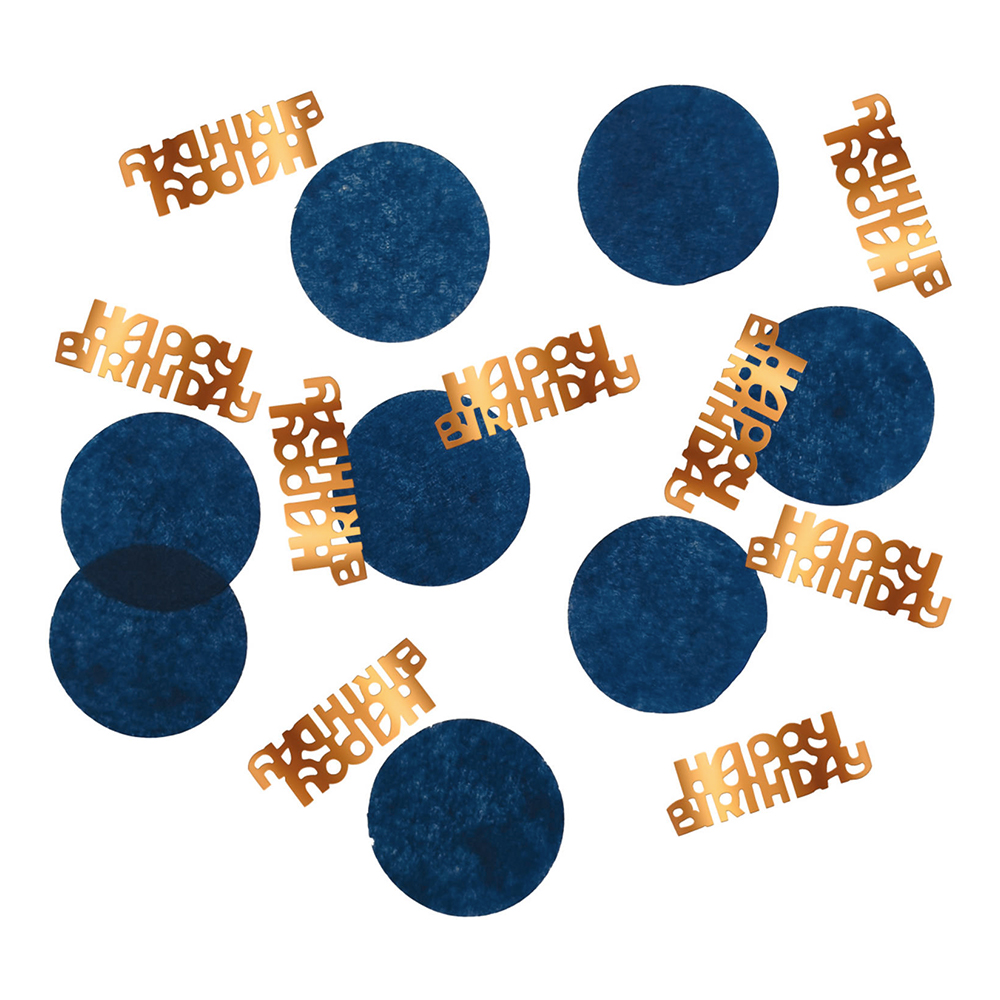 Bordskonfetti Happy Birthday True Blue - 25 gram