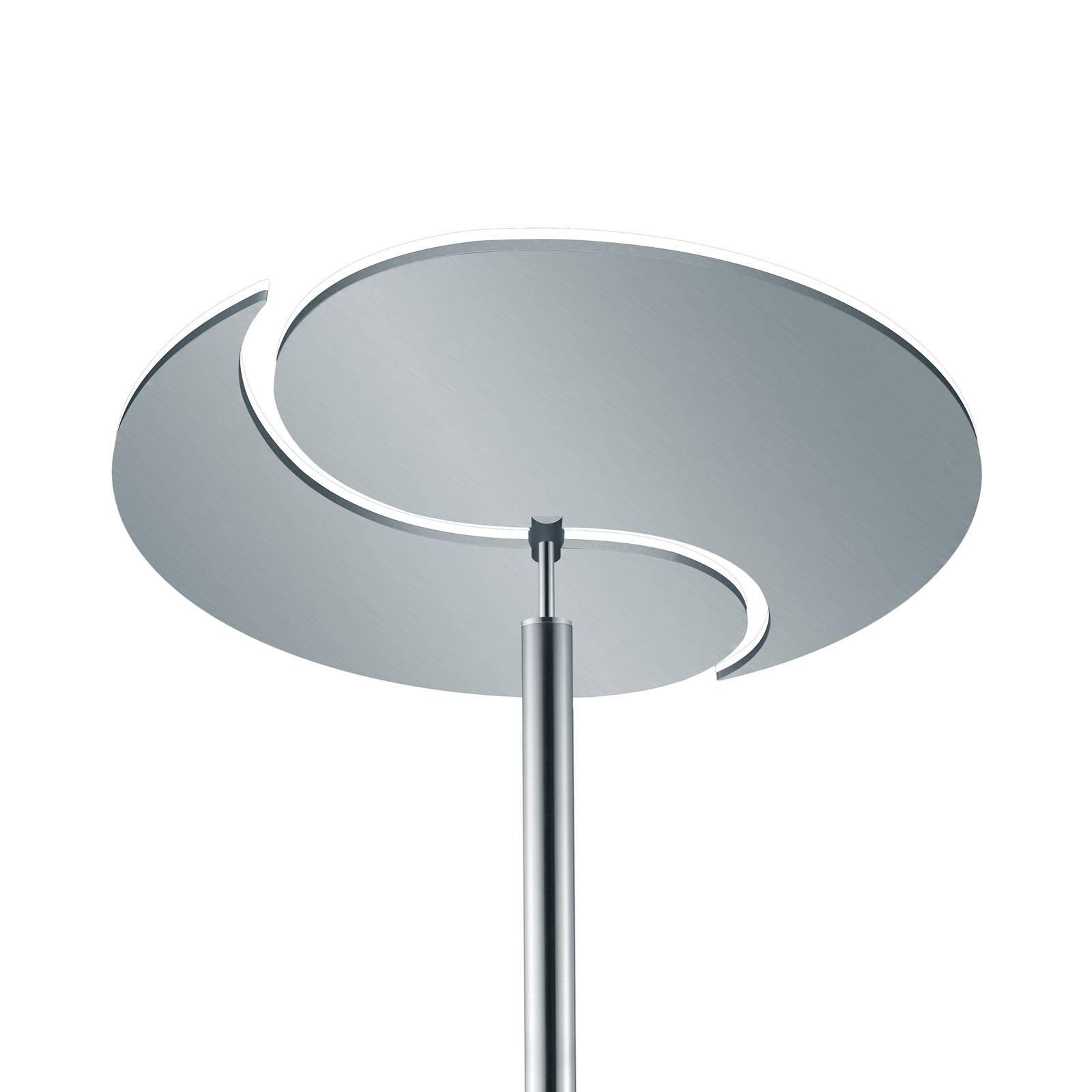 B-Leuchten Malibu LED-gulvlampe, matt nikkel CCT