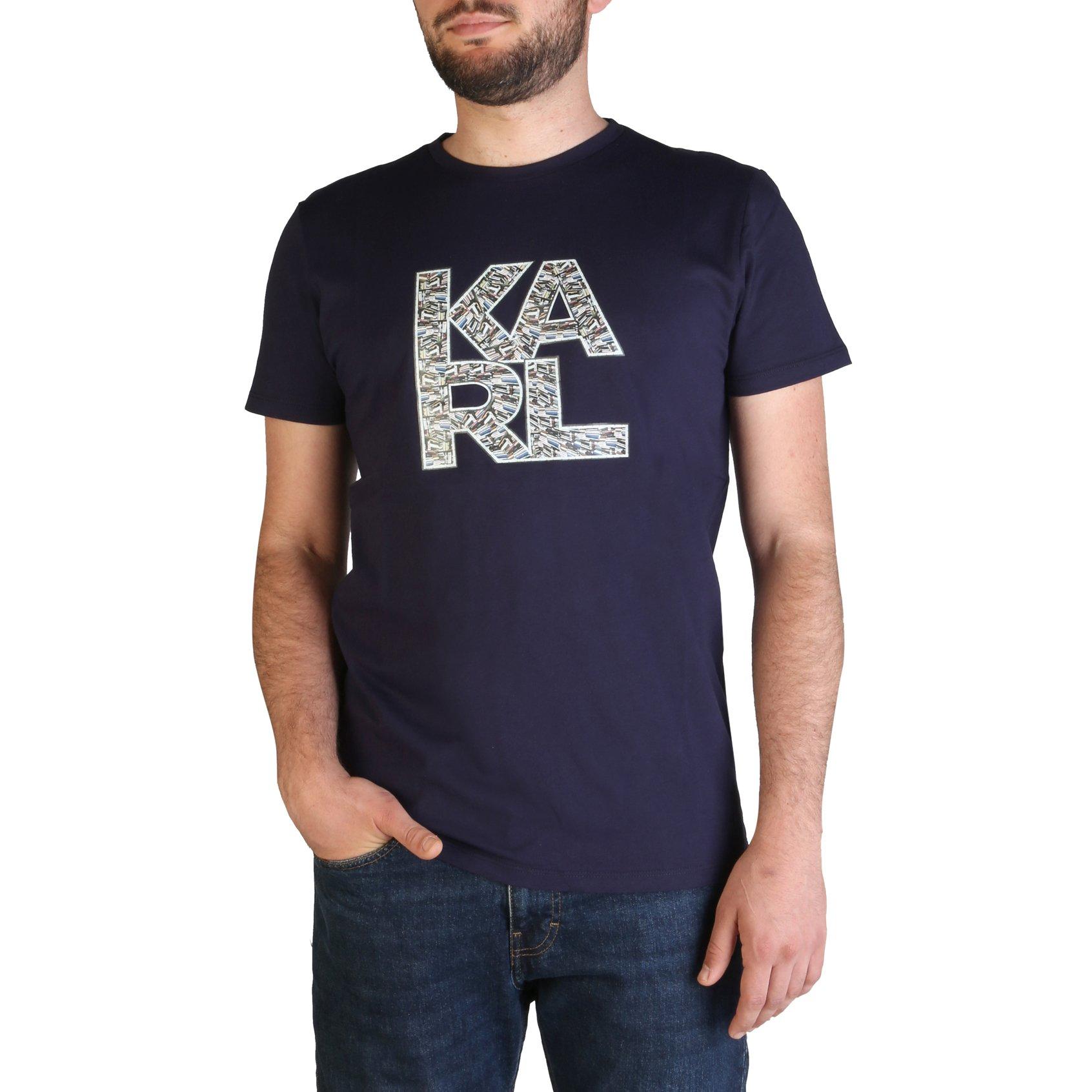 Karl Lagerfeld Men's T-Shirt Various Colours KL21MTS01 - blue M