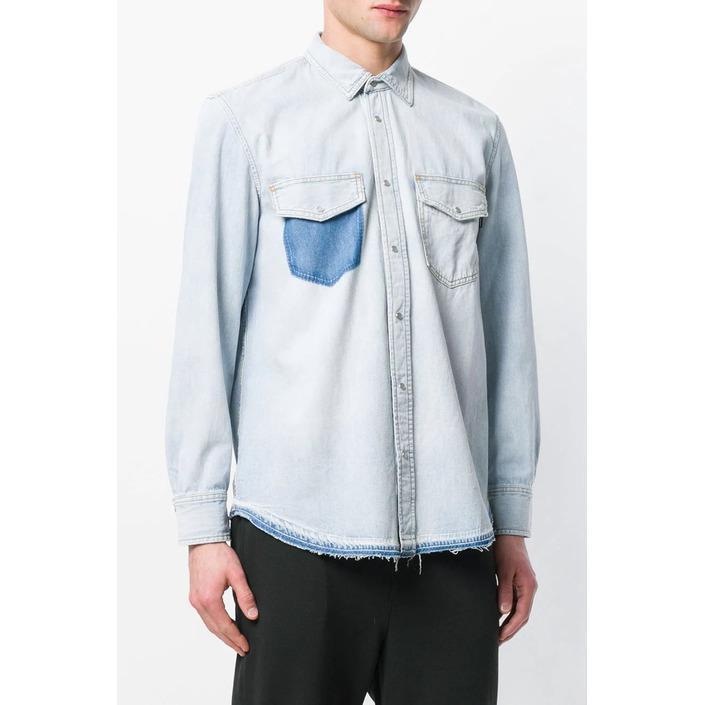 Diesel Men's Shirt Blue 287522 - blue S
