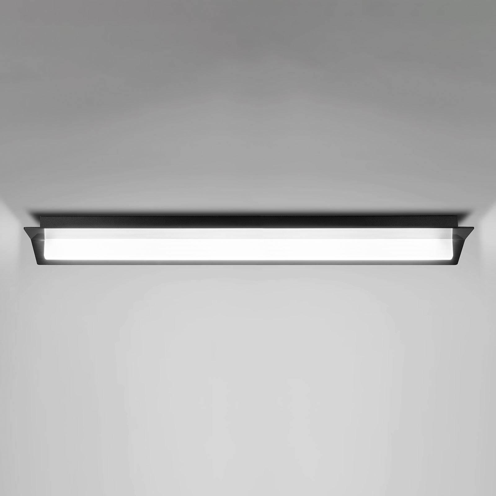 LED-kattovalaisin Flurry, 70 cm, musta