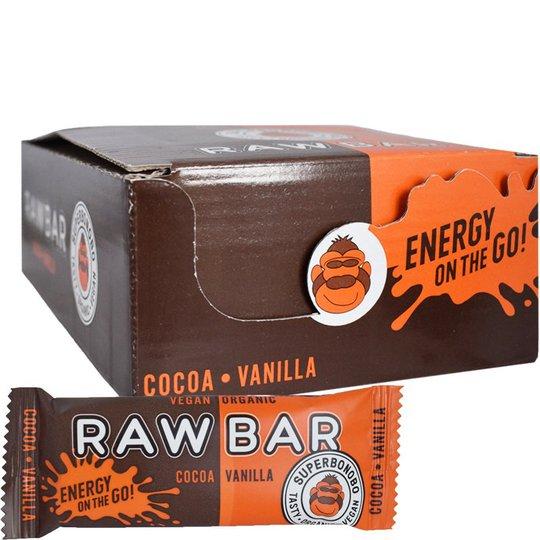"Eko Hel Låda Rawbar ""Cocoa & Vanilla"" 20 x 30g - 65% rabatt"
