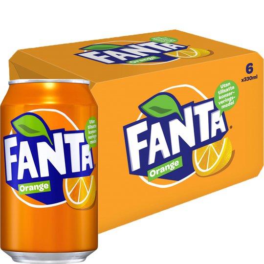 """Läsk """"Fanta Orange"""" 6 x 330ml - 52% rabatt"""