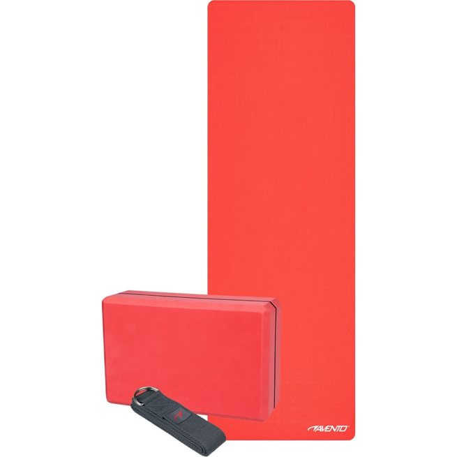 vidaXL Yogaset i 3 delar Lotus röd