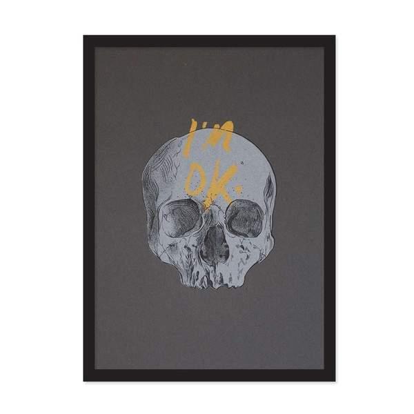 A4 I'm OK Skull Riso Print