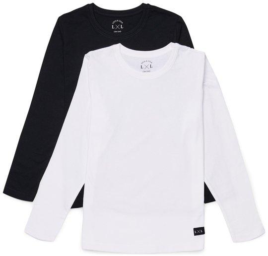 Luca & Lola Abel Langermet T-Shirt 2-pack, Black/White 134-140