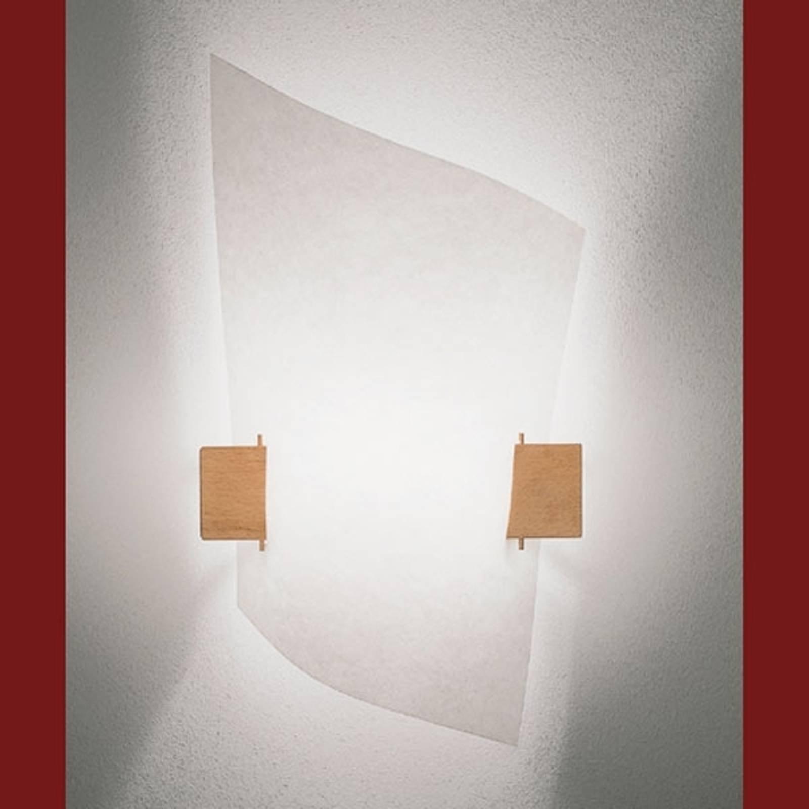 Designer vegglampe PLAN B med lyst tre