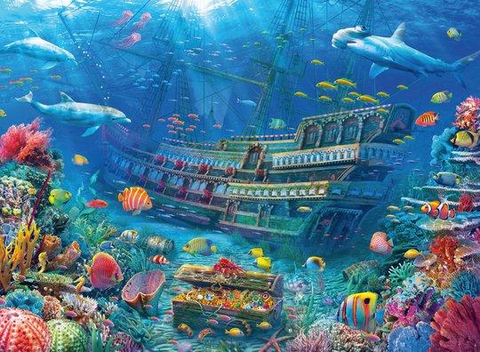 Ravensburger Puslespill Underwater Discovery 200 Brikker