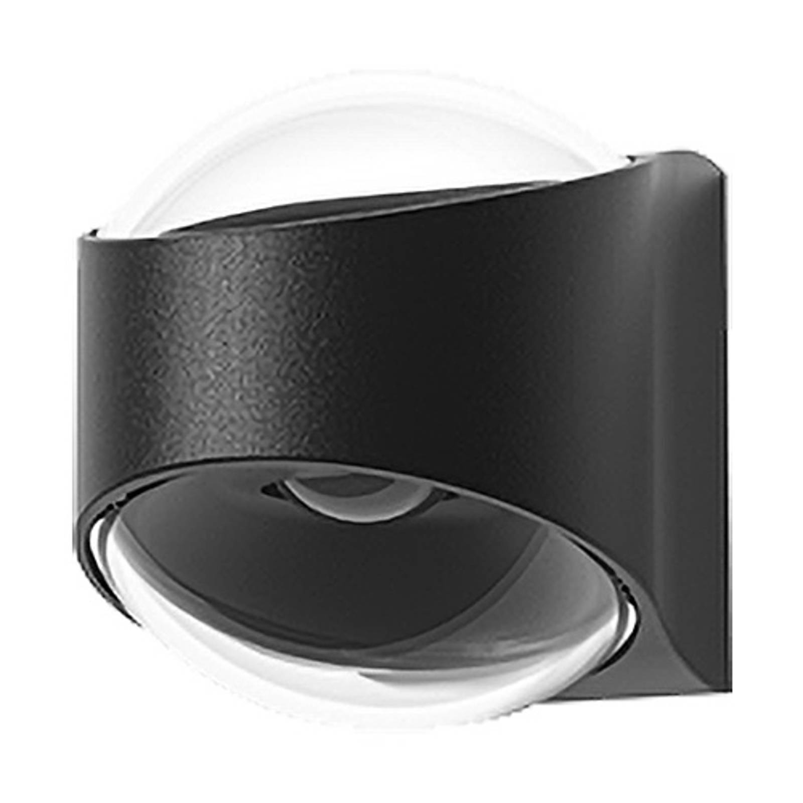 Lucande Almos -LED-ulkoseinälamppu kaareva 2-lamp.