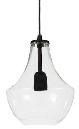 Hamilton Taklampe Clear/black 21 cm