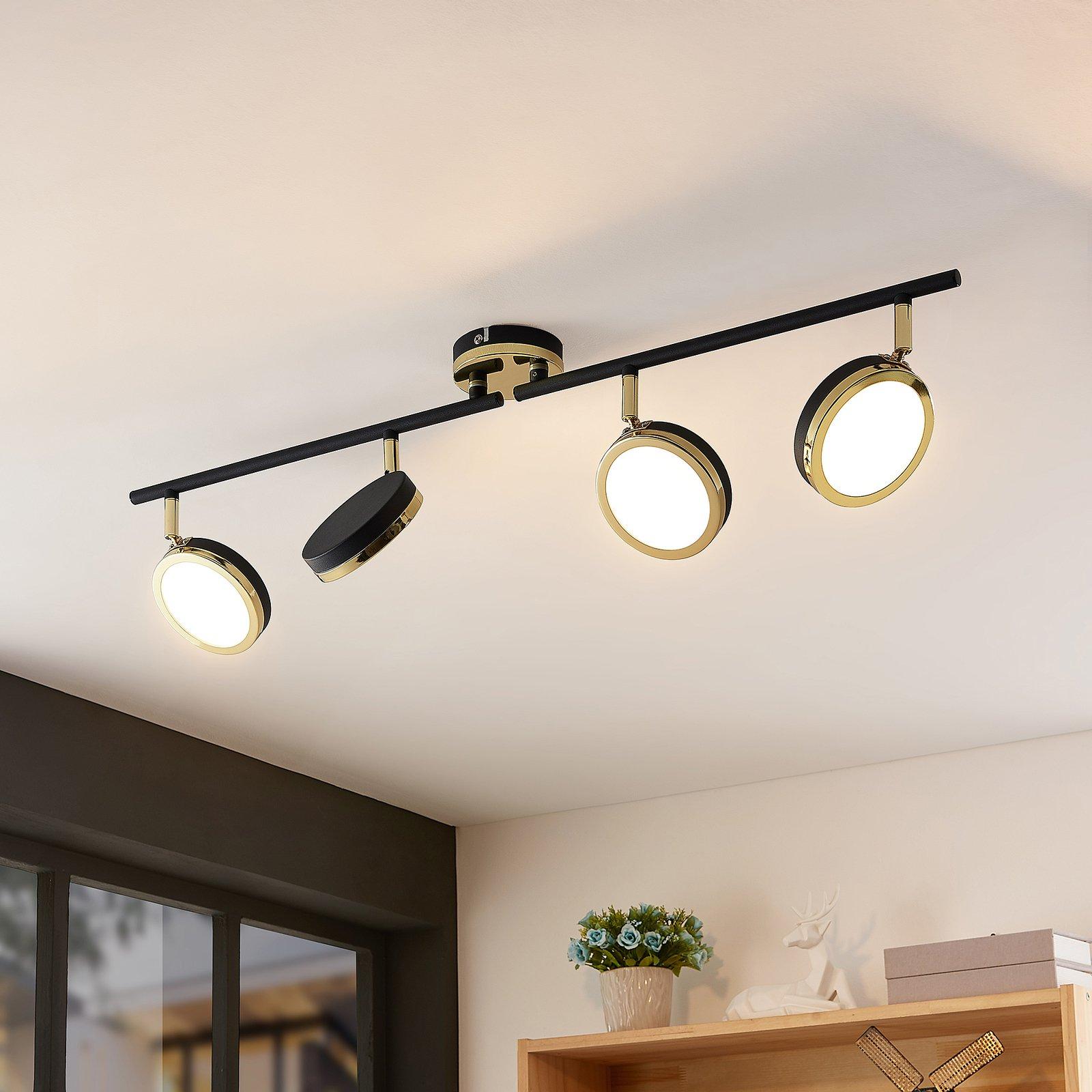 Lindby Alsani LED-takspot, 4 lyskilder