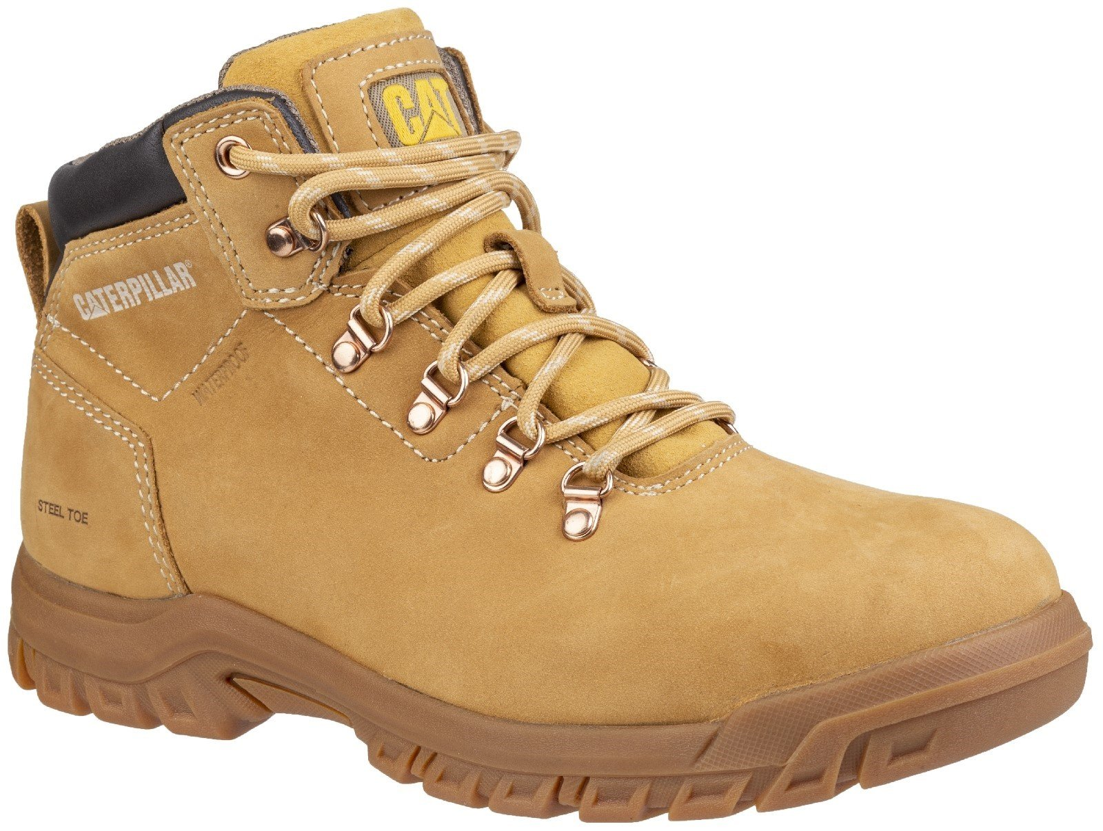 Caterpillar Women's Mae Lace Up Safety Boot Honey 28171 - Honey 3