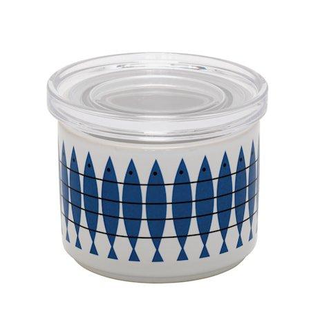 Sild Porselenskrukke med Pleksiglasslokk
