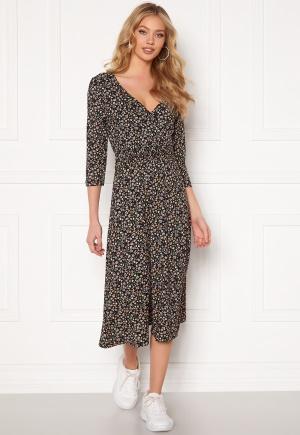 ONLY Zille Naya 3/4 Long Dress Black AOP REFRESH XS