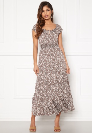 Happy Holly Jemma flounce dress Light lilac / Light beige 36/38