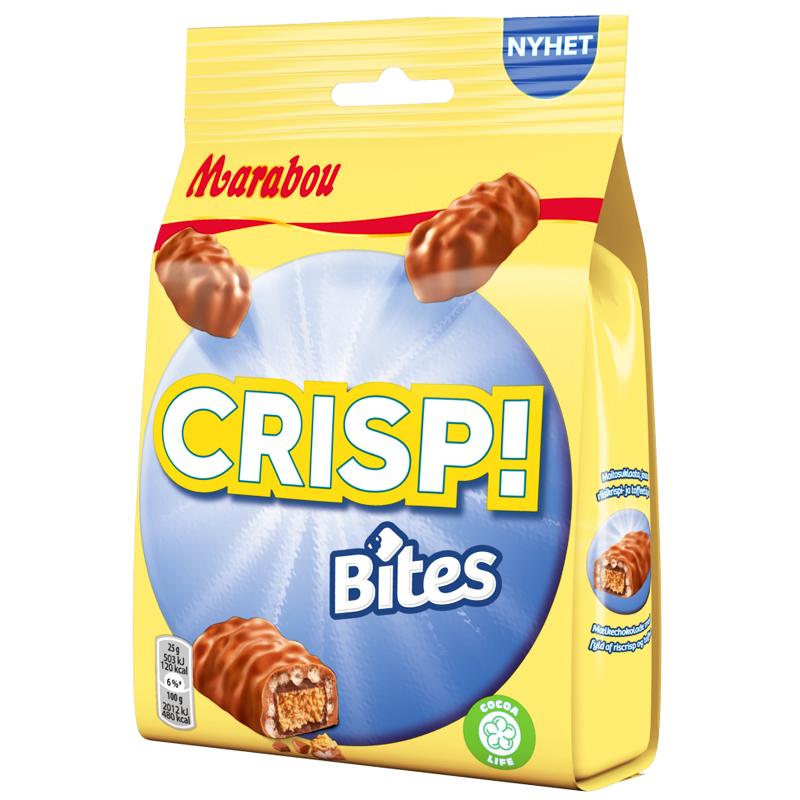 """Godis """"Crisp Bites"""" 140g - 47% rabatt"""