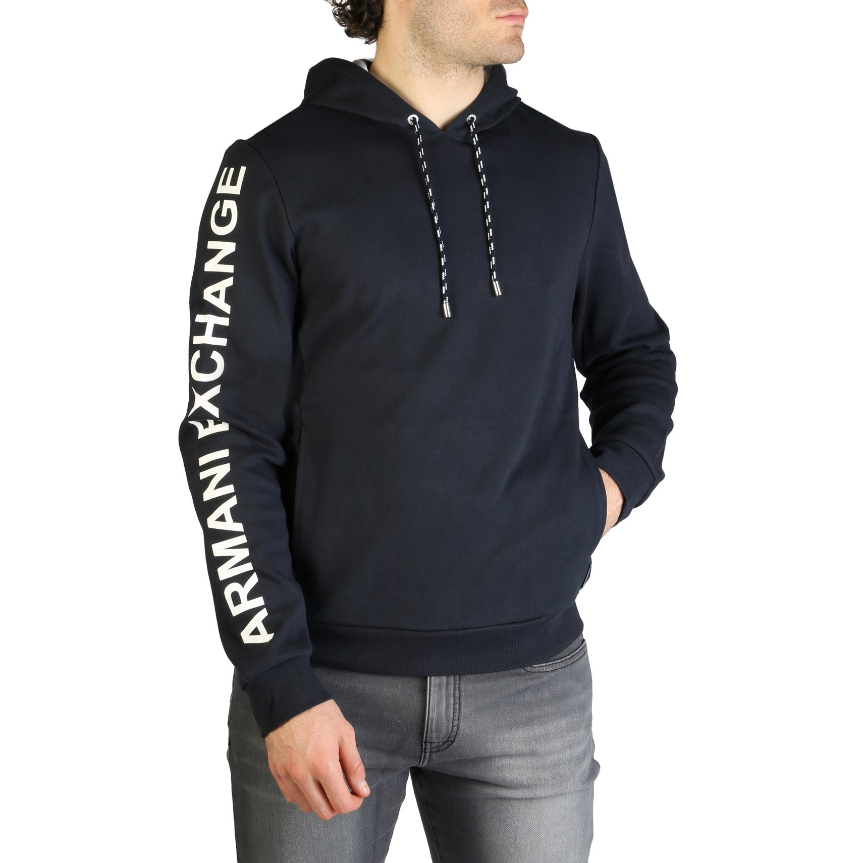 Armani Exchange Men's Sweatshirt Various Colours 3ZZM79_ZJR8Z - blue XXL