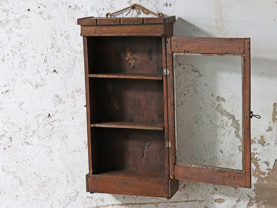 Rustic Kitchen Cabinet Brown