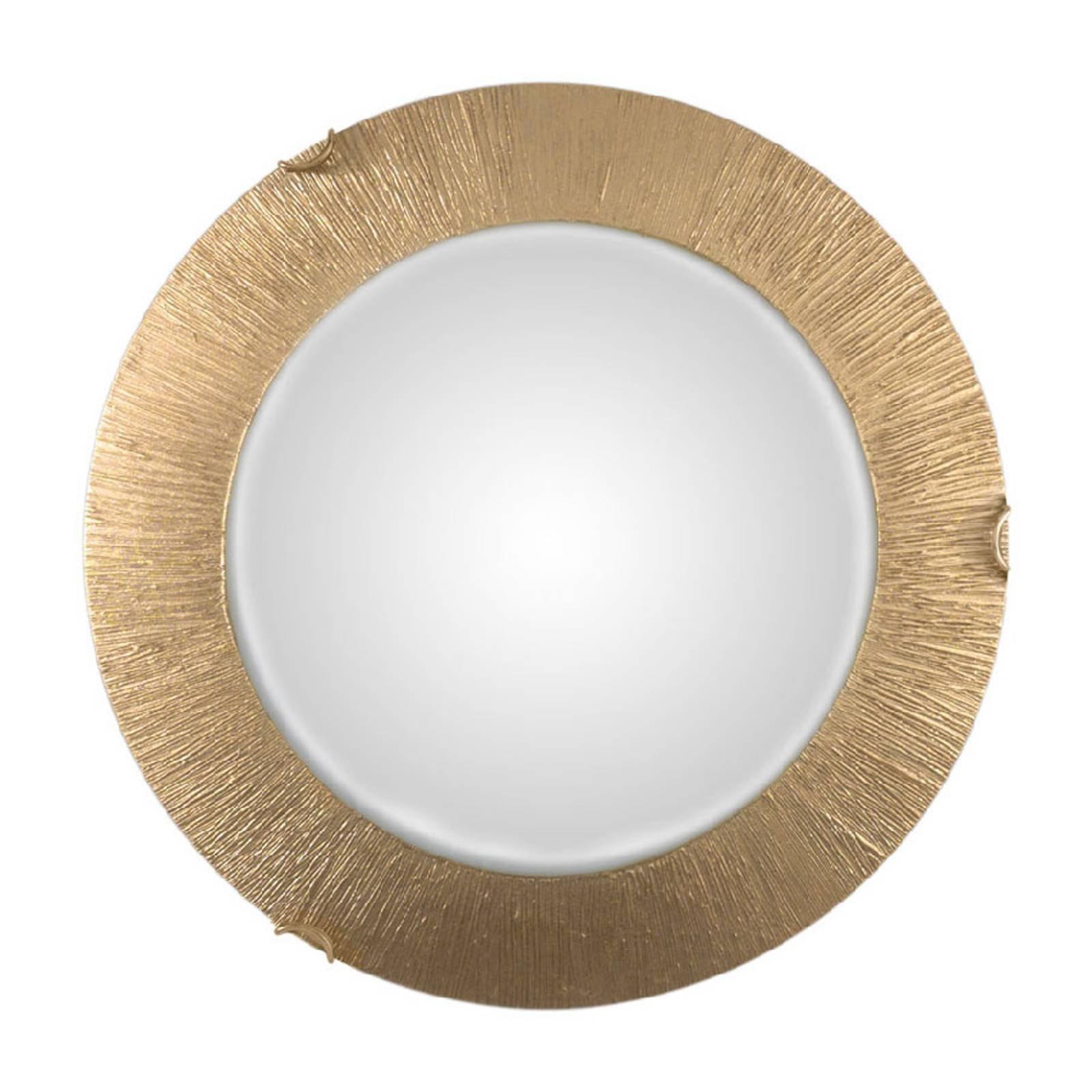 Taklampe Moon Sun, gull, Ø 40 cm