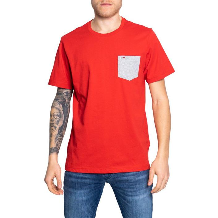 Tommy Hilfiger Jeans Men's T-Shirt Red 189076 - red XS