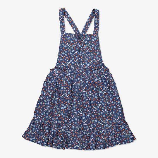 Selekjole med blomstertrykk blå