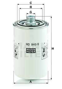 Öljynsuodatin MANN-FILTER WD 940/6
