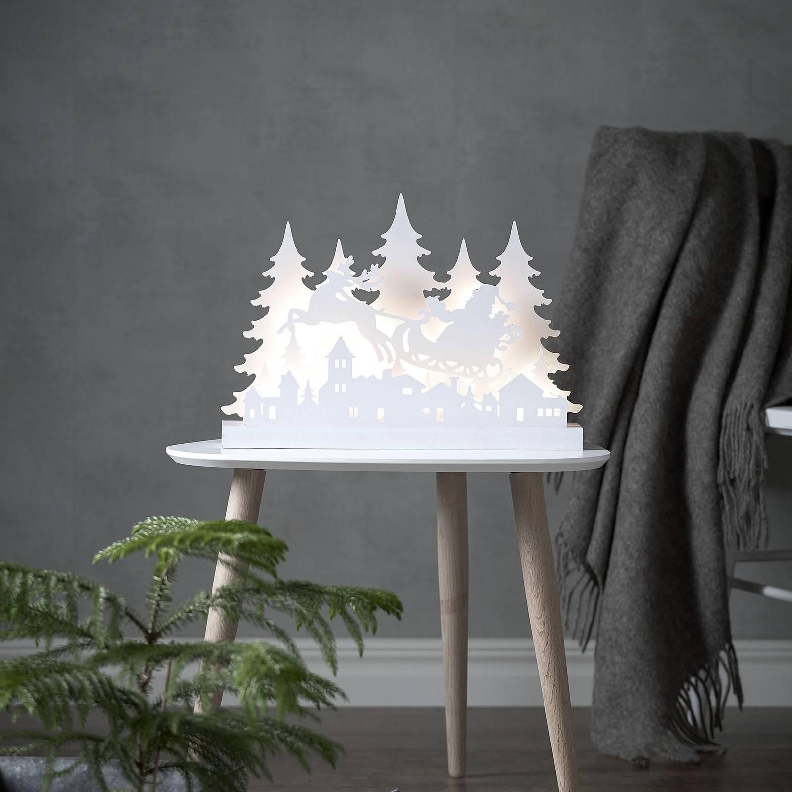 Grandy Weihnachtsmann -LED-koristevalo, 42 cm