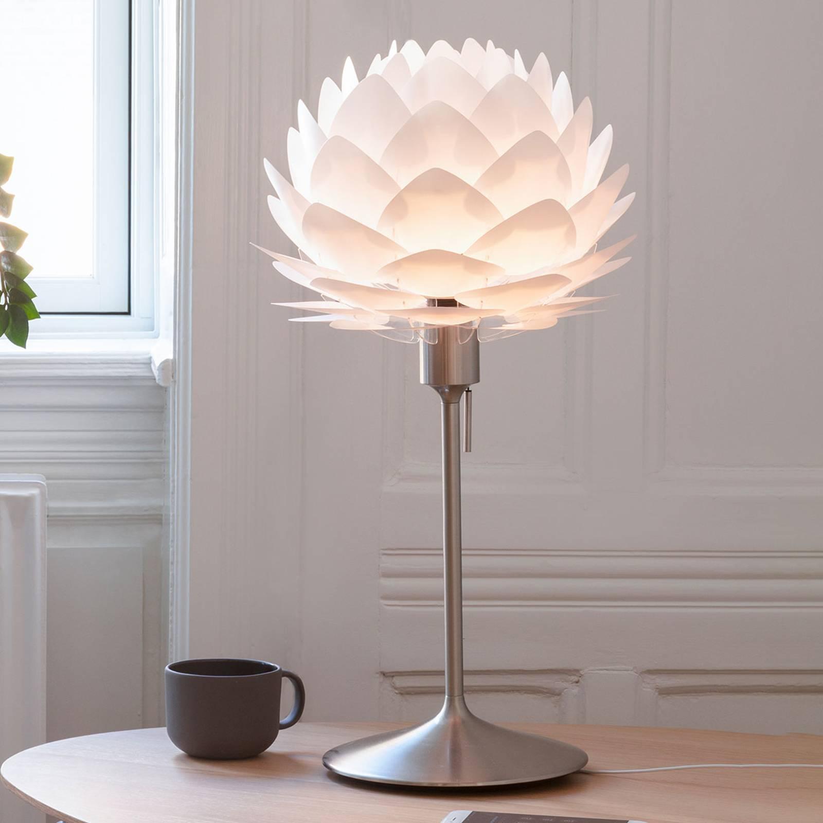 UMAGE-pöytälamppu Silvia mini valkoinen/teräs