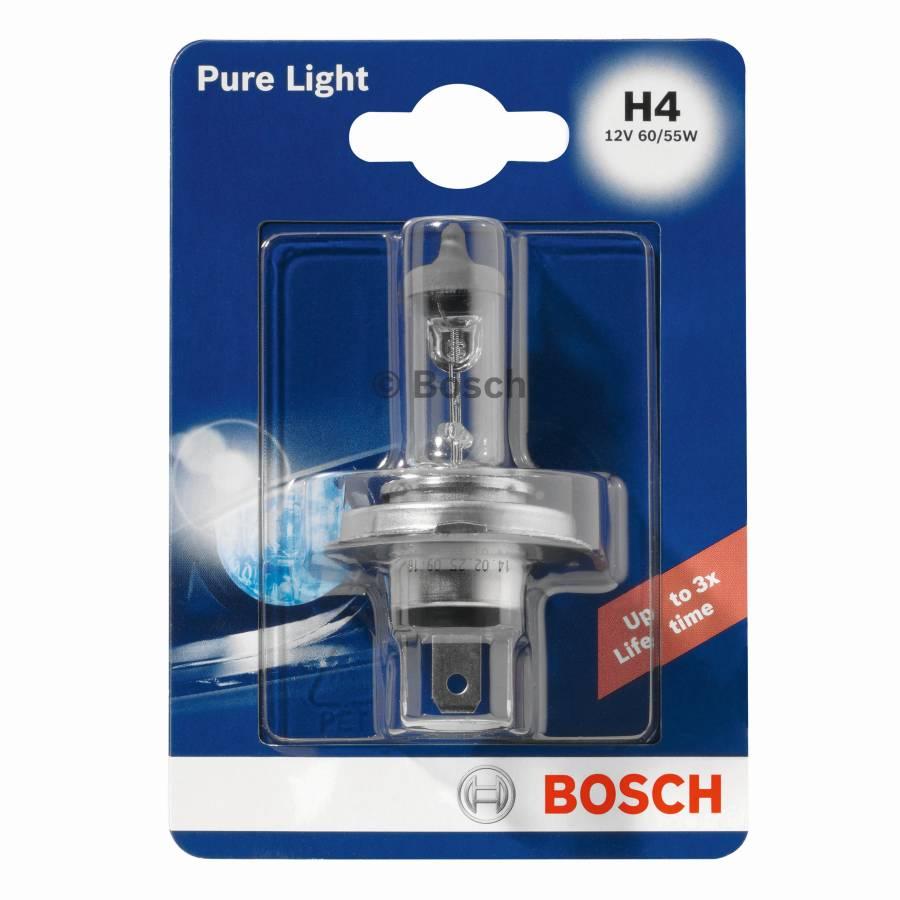 Halogeeni poltin BOSCH PURE LIGHT12V H4 60/55W