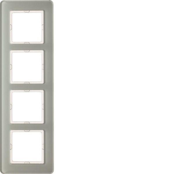 Hager 10146079 Peitekehys 4-paikkainen, Q.7, lasi valkoinen