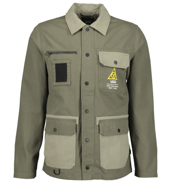 Vans M Drill Chore Coat Military Jackor GRAPE LEAF-VETIVER