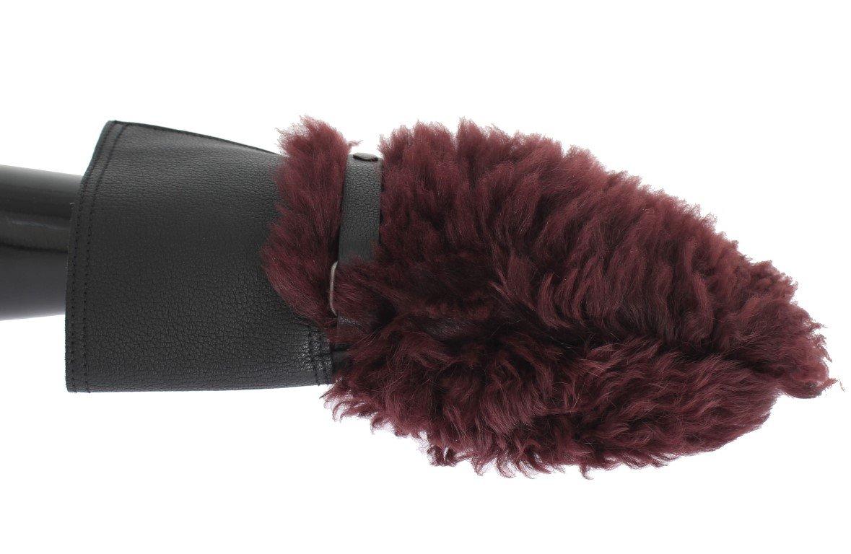 Dolce & Gabbana Men's Leather Shearling Gloves Bordeaux LB107 - 9,5|L