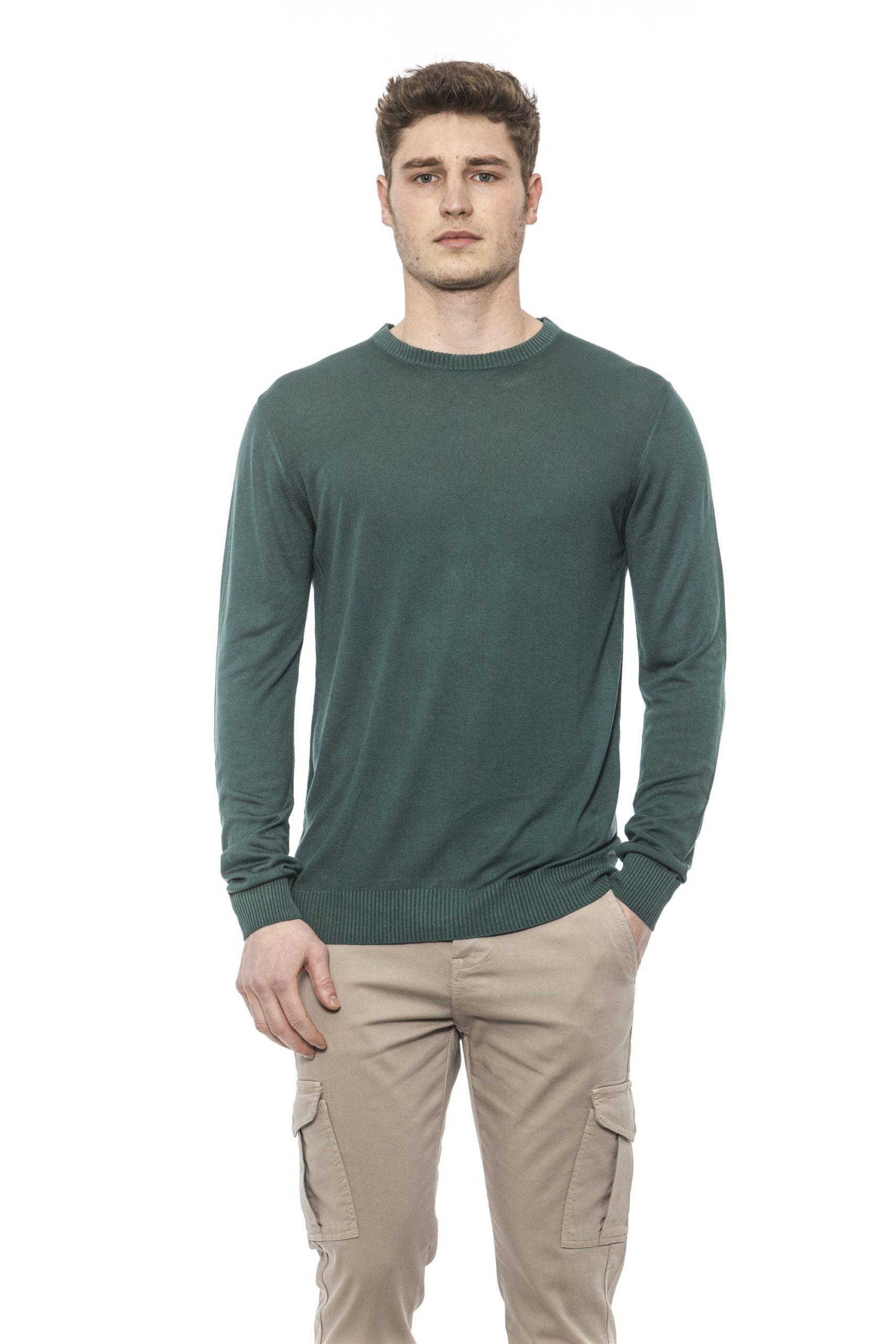 Alpha Studio Men's Mirto Sweater Green AL1374563 - IT48 | M